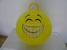 Eco-friendly pvc inflatable ball with smiling face ball hopper ball toy