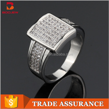 Custom fashion sterling silver jewelry high quality micro paving AAA zircon women fancy rings