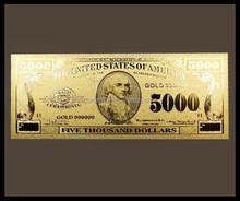 Hot selling! US Dollar Golden foil banknote