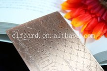 Promotional new arrival custom beautiful plain brass card