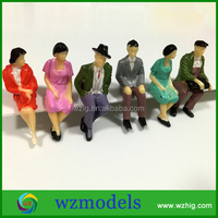 Toy Human seated Figure 1:50 Scale Model sitting passenger People
