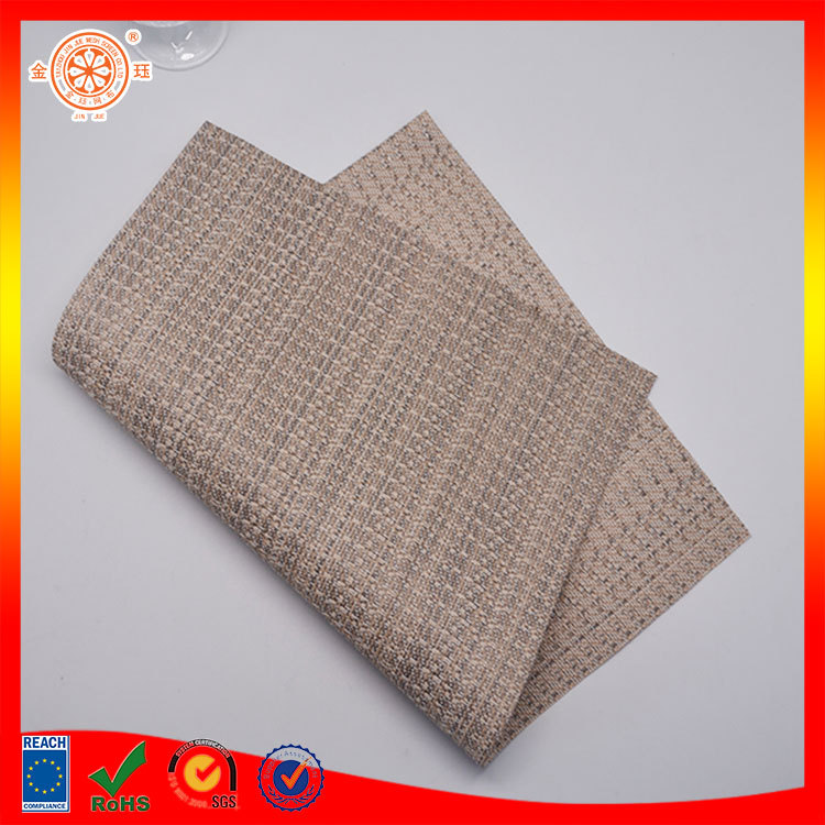 pvc textile exterior wall decoration material for placemat and table mat