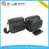 2014 promotional fashional high quality black shoulder leather waist bag