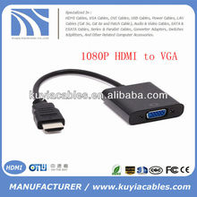 1080P HDMI to VGA Adapter Converter Cable with Chipset Male to Female for PC DVD HDTV
