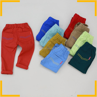 Newest 100% cotton children pants many colors comfortable kids trousers