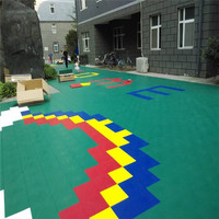 Outdoor kids interlocking play area flooring