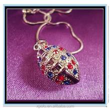 XP-MP-099394 FACTORY PRICE Wholesale Rhinestone sport ball baseball softball basketball necklace