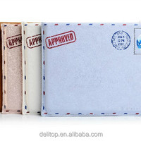 High Quality Envelope Postcard Design PU Leather Pouch Case for Apple Ipad