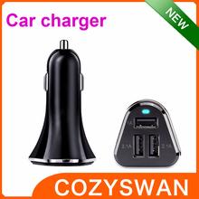 HOT selling 5V 5.2A 3 port usb Smart Car Charger car cigarette lighter voltage