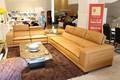 Sofá cama de couro projeto mobiliário moderno sofá de canto J871