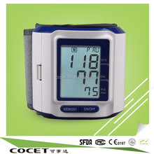 COCET HOT SALE ! Wrist watch blood pressure monitor with CE,RoHs,ISO