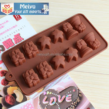 Christmas style cake decorate silicone chocolate mold, jelly pudding candy 3D silicone mold for Christmas