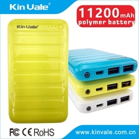 Alibaba Guangzhou supplier portable phone charger with 11200mah,mobile rechargeable battery