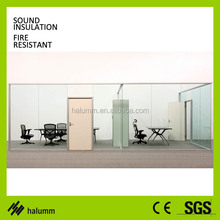 environmental protection installation glass sliding wall partition