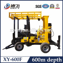hydraulic soil and rock 600meters water well drilling machine