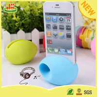 2015 new arrival silicone mobile phone horn speaker