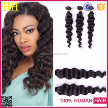 Wholesale The high quality and low price Virgin Grade natural color deep wave 7A Hair Extensions Hong Kong