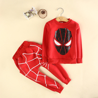 Cool Design Children Clothes Suits Boys Spider-Man Set Wholesale Kids Sport Wear In Stock CS81107-2