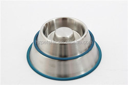 18oz slow feed wholesale stainless steel dog bowl