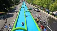 100ft inflatable water city slide / giant slide the city