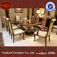 0063 European Classic wooden oval dining table designs retractable dining table