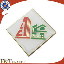 Custom company logo badges metal brand pin soft enamel color paint with epoxy