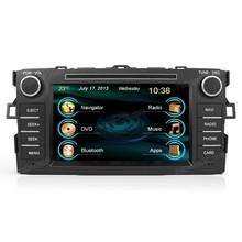 2din car dvd player car gps navigation car audio system for Toyota Corolla 2012