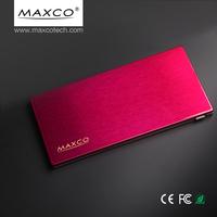 MAXCO External slim power bank mobile phone lipo battery charger powerbank 5000 mah