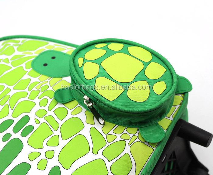Animaux tortue chariot enfants sac d'école avec des roues