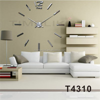 2015 New Product Multicolour Round Circle DIY Mirror Sticker Clock 3D Luxery Wall Clock Big Size Home Decor