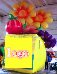 Customize Advertising promotions decorative inflatable flower basket/fruit basket