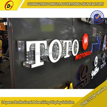 Guangzhou factory custom stainless steel backlit alphabet sign letters