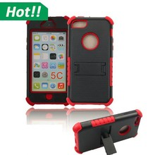 Rubber Hybrid Armor Hard Case Cover Kickstand for iPhone 5C 5S