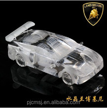Beautiful high quality 3D crystal car model for business gift & decoration
