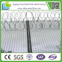 china supplier - high security 358 fence with razor barbed wire for prison