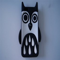 Silicone phone cases cat owl face phone case