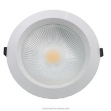 hot deal cob led down light, 90-100lm/w, CRI>80, power factor>0.9, round led downlights 20w