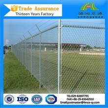 Cheap hot-dipped galvanized chain link fence for security