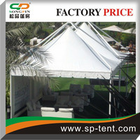 5x5m Windproof External suspending gazebo tent tent with the frame built on the outside