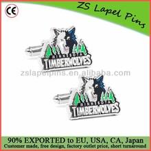 club logo cufflinks/basketball cufflinks