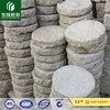 G682 yellow granite rough natural round stone paving stone