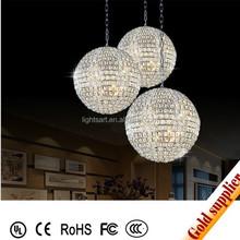 New style crystal glass pendant lamp good for bar restaurant