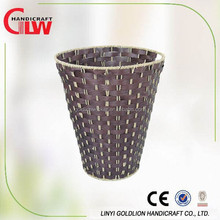 wire&woodchip laundry basket, home decoration wholesale, household items