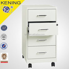 Metal 4 Drawer Mobile Pedestal/Mobile File Cabinet