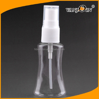 Factory price Special unique shape plastic bottle with white fine mist spray