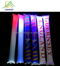 CF customized glow inflatable cheering stick Led inflatable sticks for festival