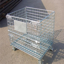 Folding wire mesh cage for storage