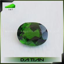 High quality oval shape green emerald color natural diopside for sale