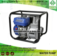 Agricultural irrigation facilities farm land water supply equipment ST80HB-3G 80mm high pressure gasoline engine water pump