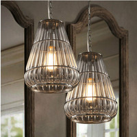 2015 Vintage Style Industrial lamp guard cage and glass Ihanging edison bulb light fixture